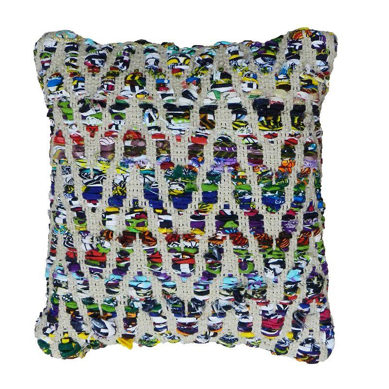 Textured Geometric Decorative Pillow