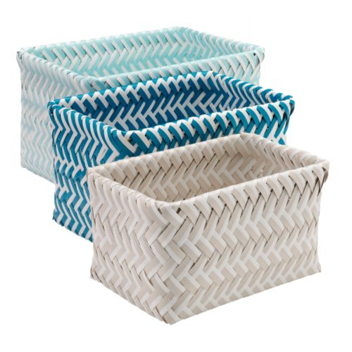 SONOMA life + style® Shoreline 3-pc. Nesting Basket Set