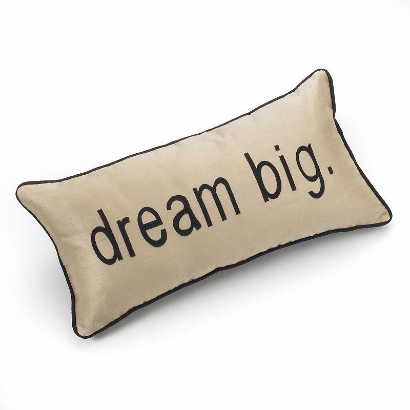 Edie Inc. Pillow Talk Dream Big Decorative Pillow