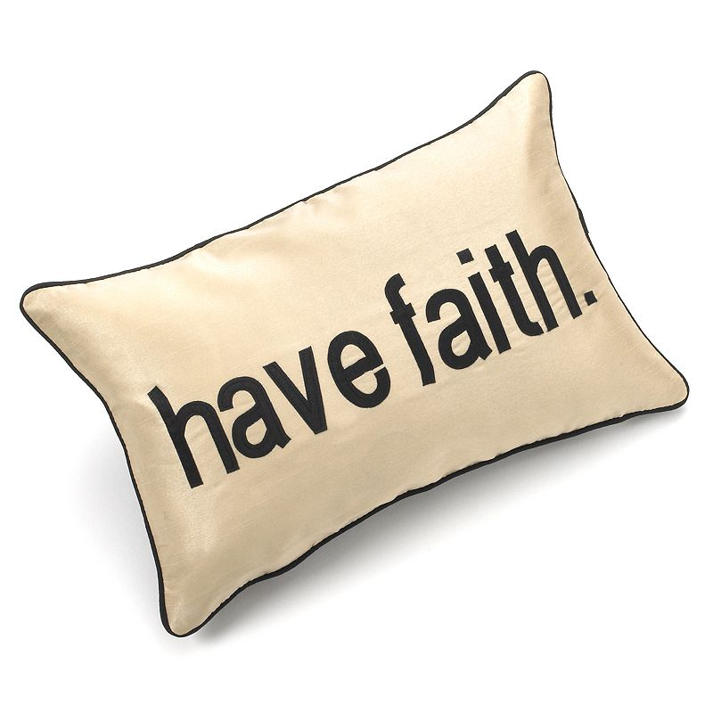 Edie Inc. Pillow Talk Have Faith Decorative Pillow