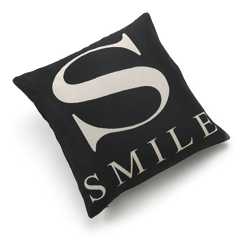 Edie Inc. S as in Smile Decorative Pillow