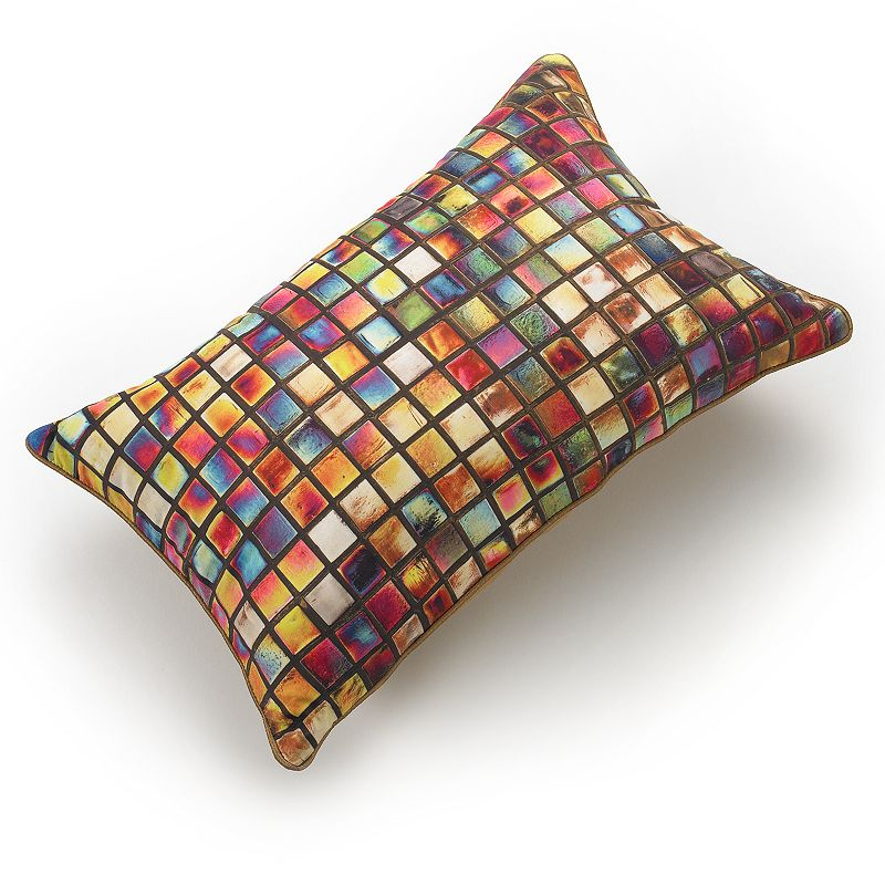 Edie Inc. Stained Glass Decorative Pillow