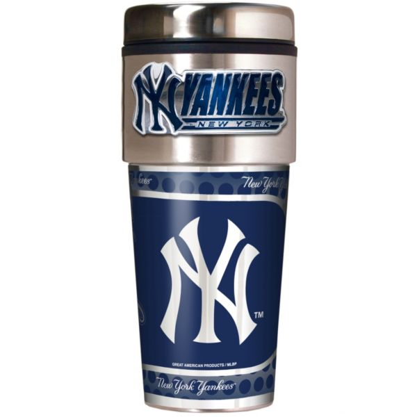 New York Yankees Stainless Steel Metallic Travel Tumbler