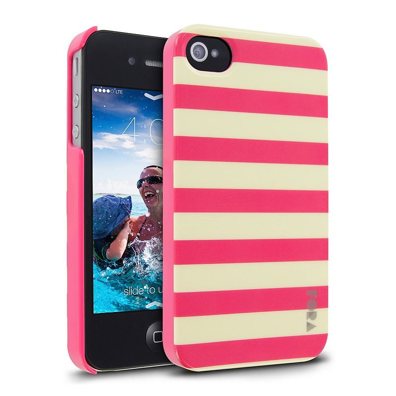 Cellairis Pink Stripes iPhone 4 and 4S Cell Phone Case