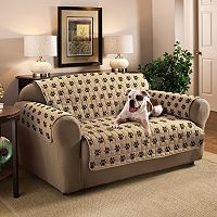 Innovative Textile Solutions Paw Prints Microfiber Sofa Protector