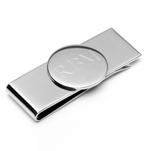 Stainless Steel Engravable Round Infinity Money Clip