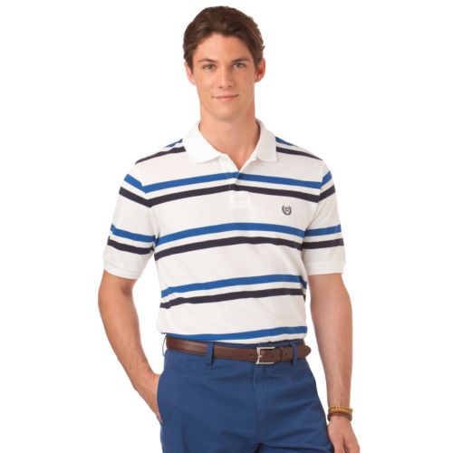 Chaps Classic-Fit Beach Grove Striped Polo - Men