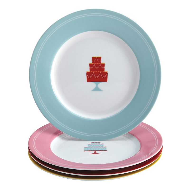 Cake Boss Mini Cakes 4-pc. Dessert Plate Set