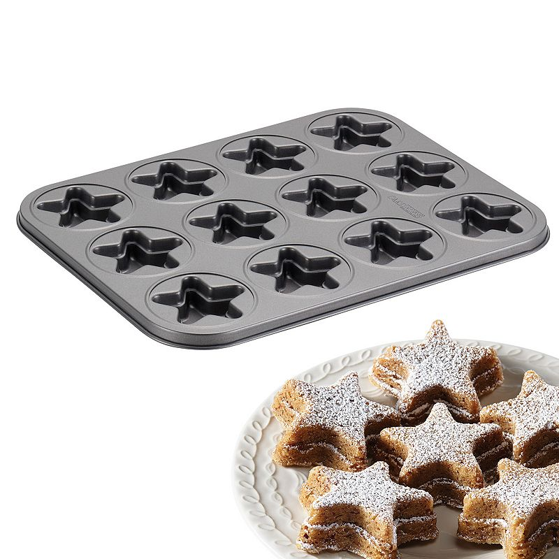 Cake Boss Specialty 12-Cup Nonstick Molded Star Cookie Pan