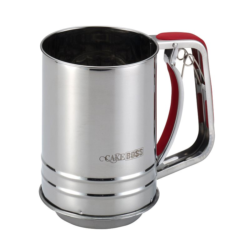 Cake Boss Stainless Steel Tools and Gadgets 3-Cup Flour Sifter