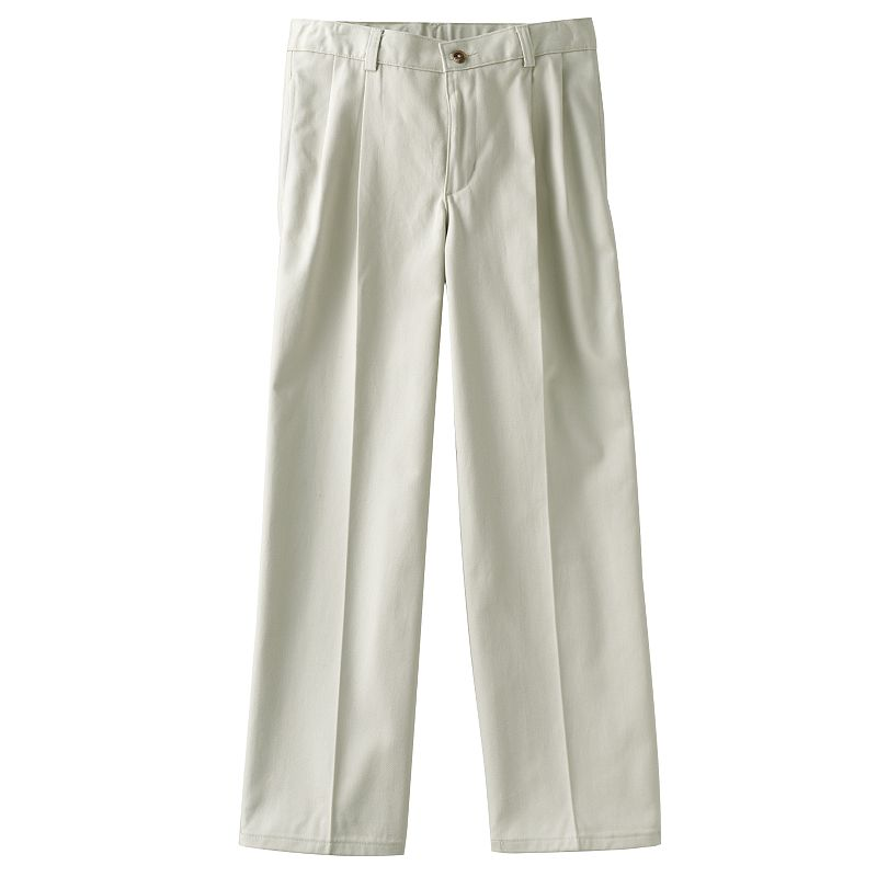 Chaps Pleated-Front Twill Pants - Boys 8-20 Husky