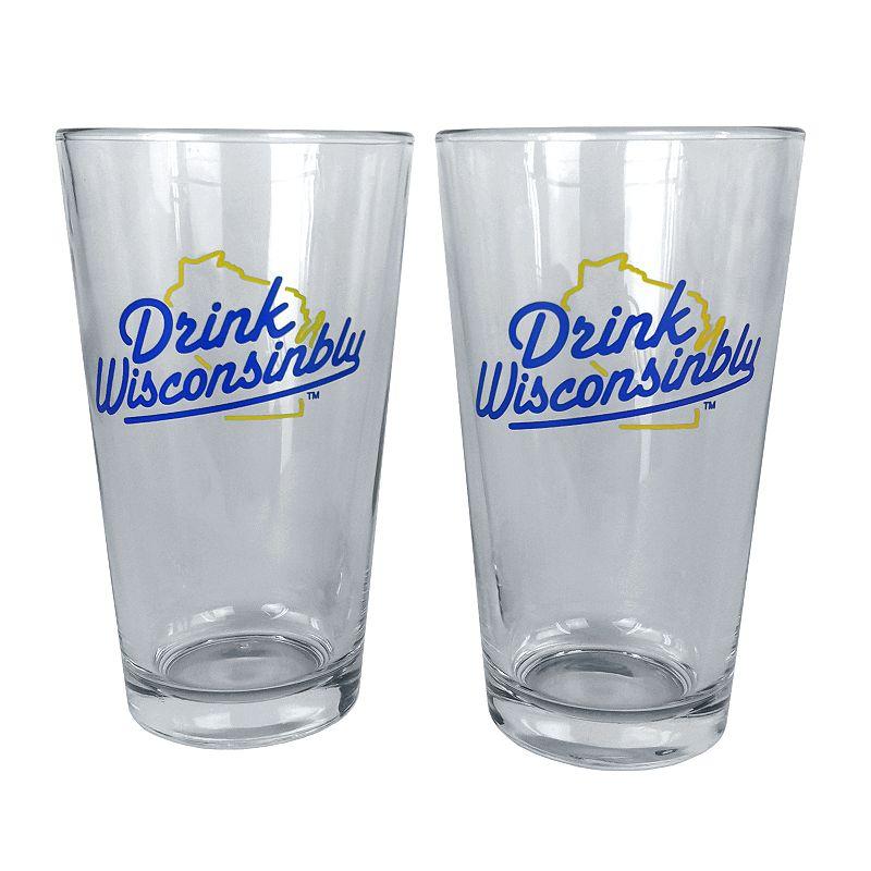 30 Watt Drink Wisconsinbly 2-pk. Pint Glasses