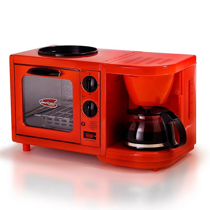 Americana by elite 3 in 1 mini breakfast shoppe - Red kitchen appliances ...