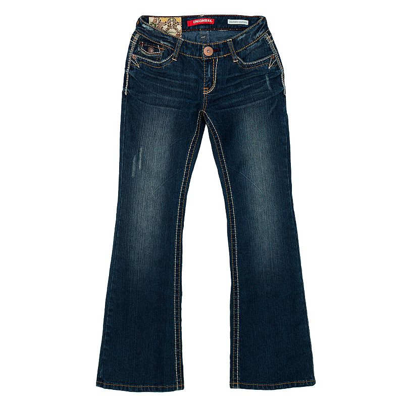 Girls 7-16 Unionbay Embroidered Bootcut Jeans