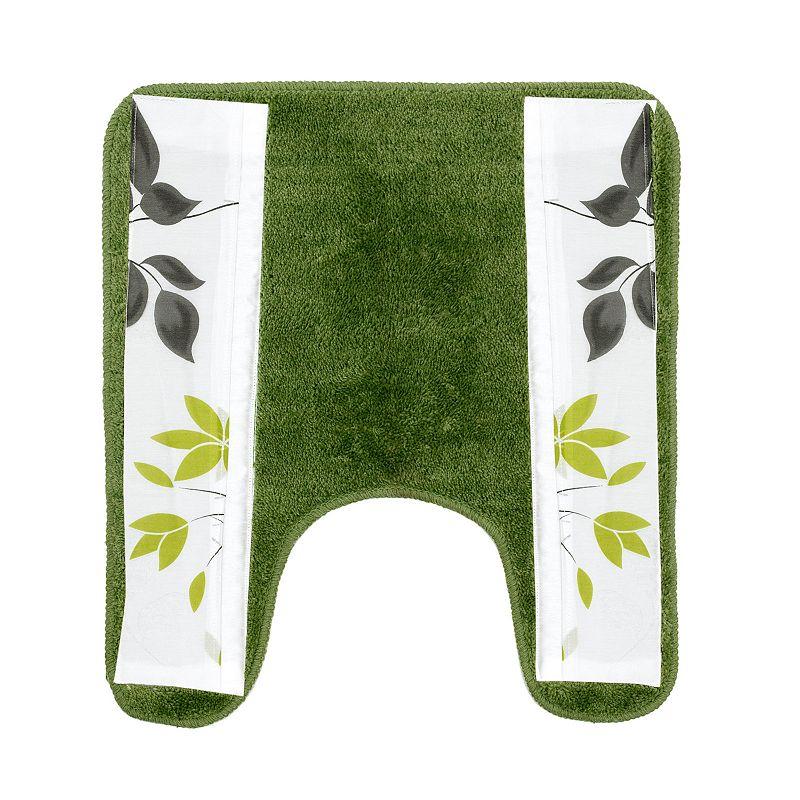Mayan Leaf Banded Contour Bath Rug