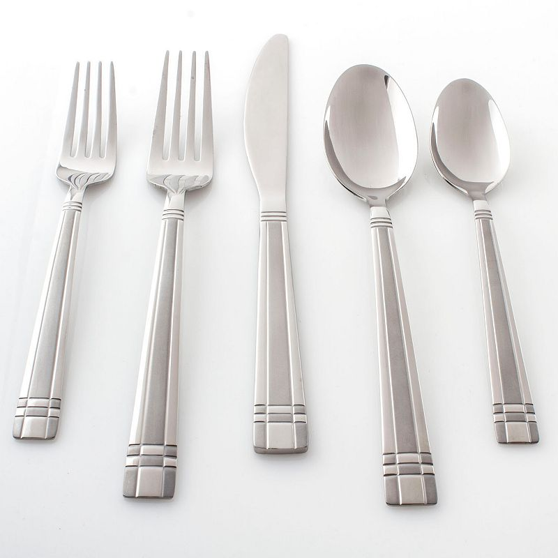 Cambridge Axis Sand 51-pc. Flatware Set