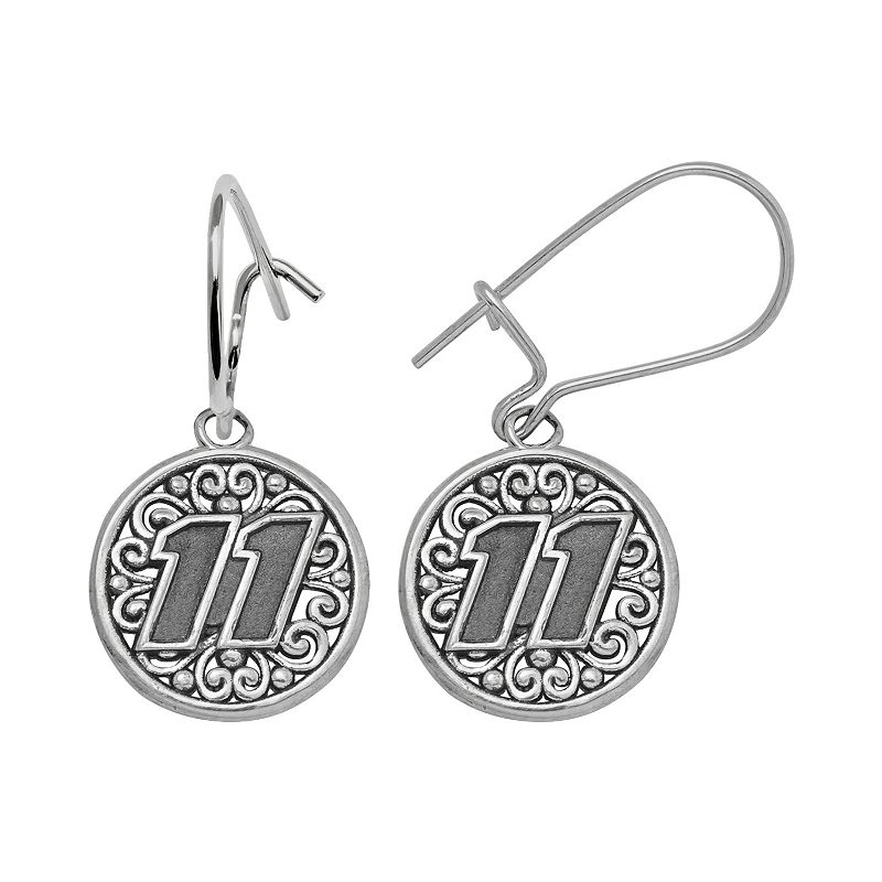 Insignia Collection NASCAR Denny Hamlin Sterling Silver 11 Drop Earrings