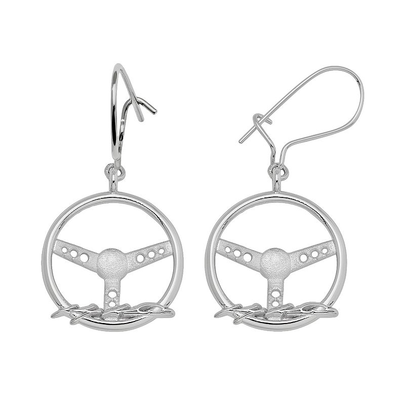 Insignia Collection NASCAR Kasey Kahne Sterling Silver Steering Wheel Drop Earrings
