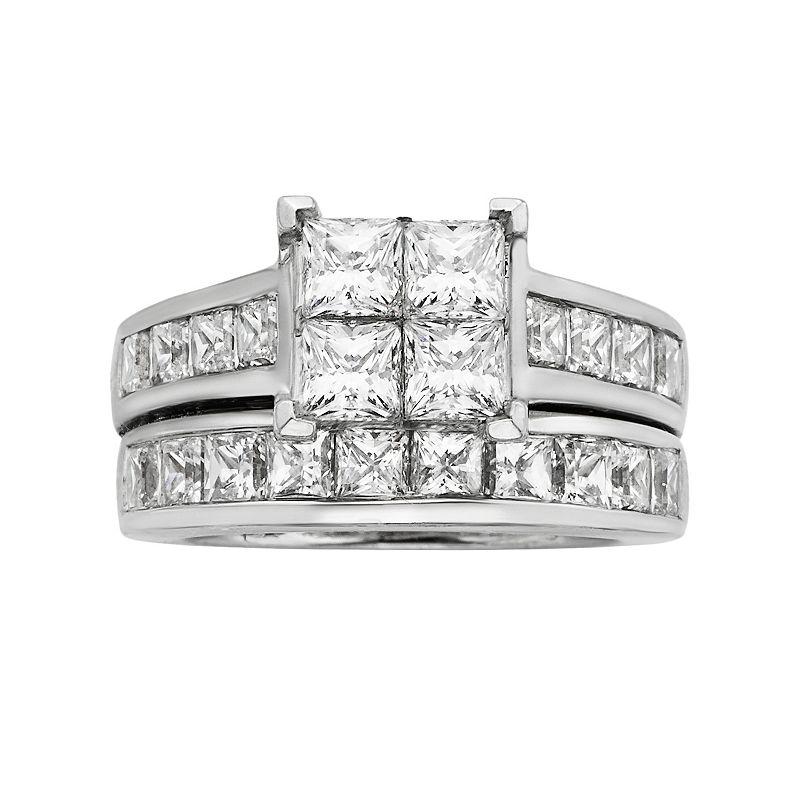 Princess-Cut Diamond Engagement Ring Set in 14k White Gold (5 ct. T.W.)