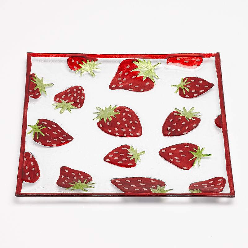 SONOMA Goods for Life™ Strawberry Toss Square Glass Platter