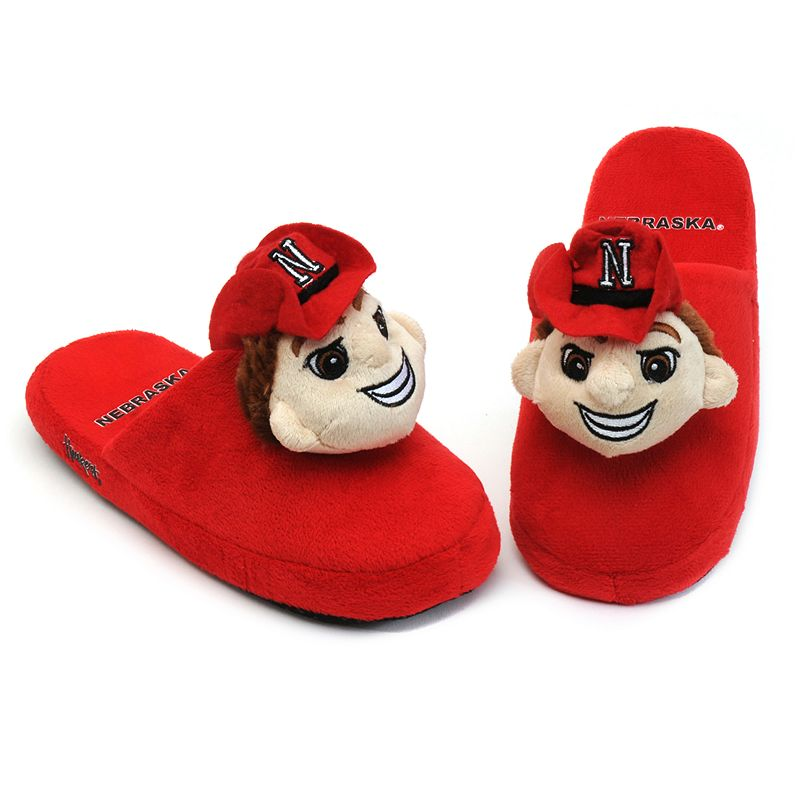 Adult Nebraska Cornhuskers Mascot Slippers