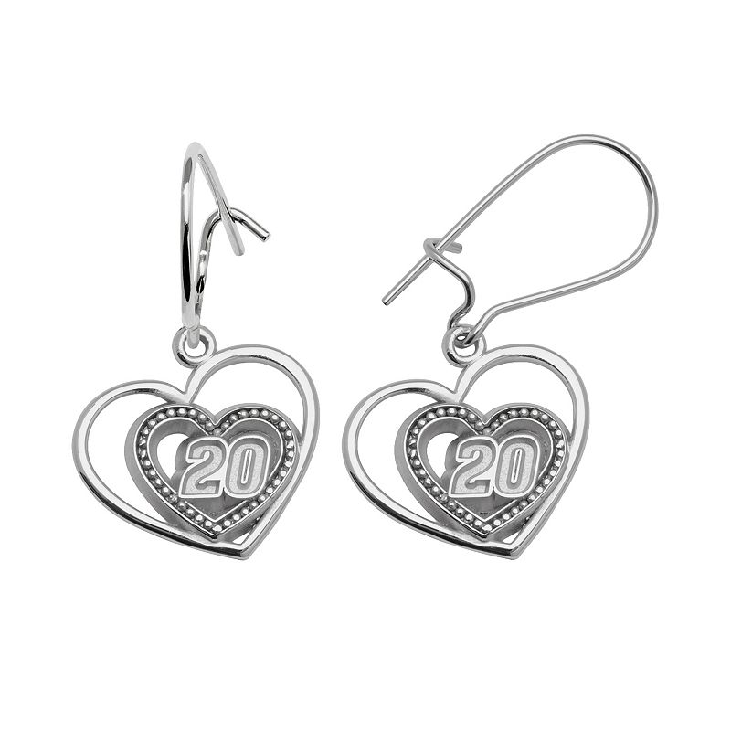 Insignia Collection NASCAR Matt Kenseth Sterling Silver 820 Heart Drop Earrings