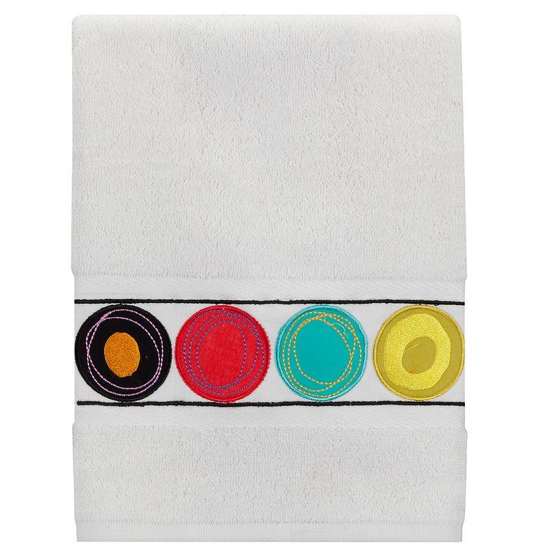 Creative Bath Dot Swirl Bright Hand Towel
