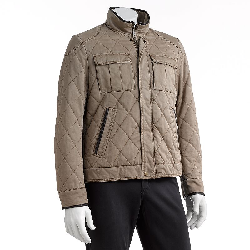 Men's Excelled Diagonal Quilted Hipster Jacket