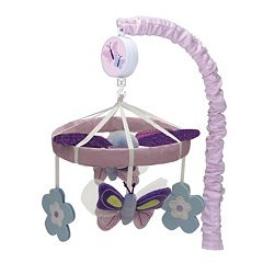 Lambs & Ivy Butterfly Lane Musical Crib Mobile by