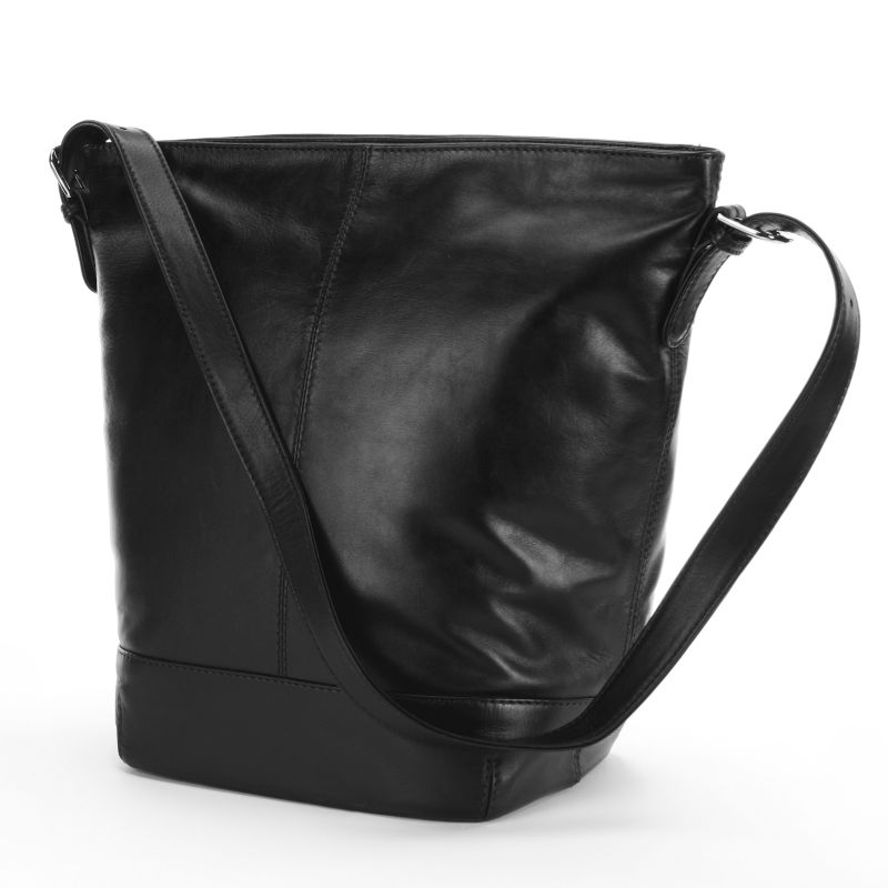 ili Leather Bucket Bag, Women's, Black