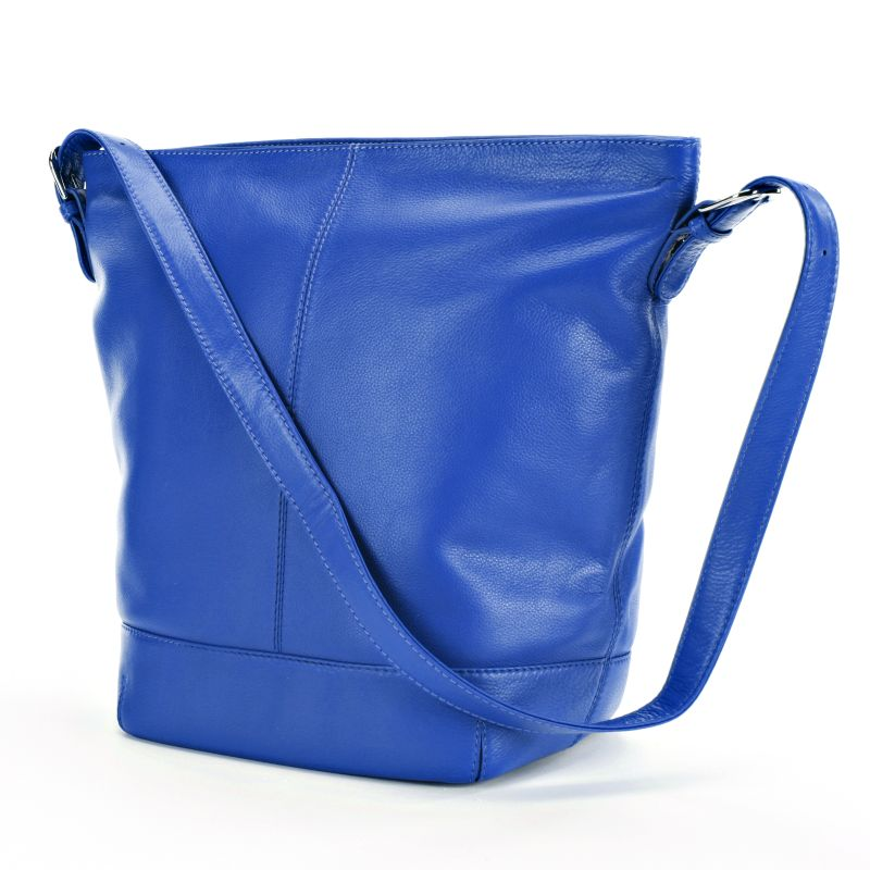 ili Leather Bucket Bag, Women's, Blue
