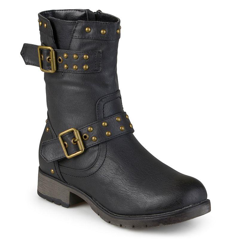 Journee Collection Aquata Women's Midcalf Moto Boots