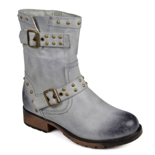 Journee Collection Aquata Midcalf Moto Boots - Women