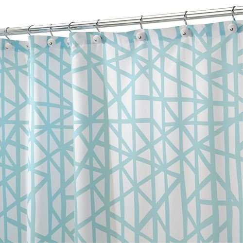 abstract fabric shower curtain