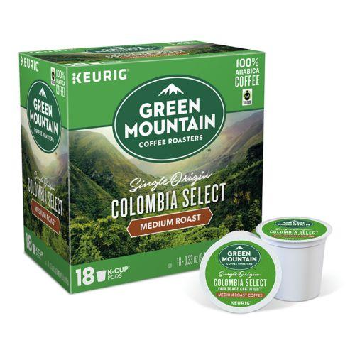 Keurig® K-Cup® Pod Green Mountain Coffee Colombian Fair Trade Select Decaf Coffee - 18-pk.
