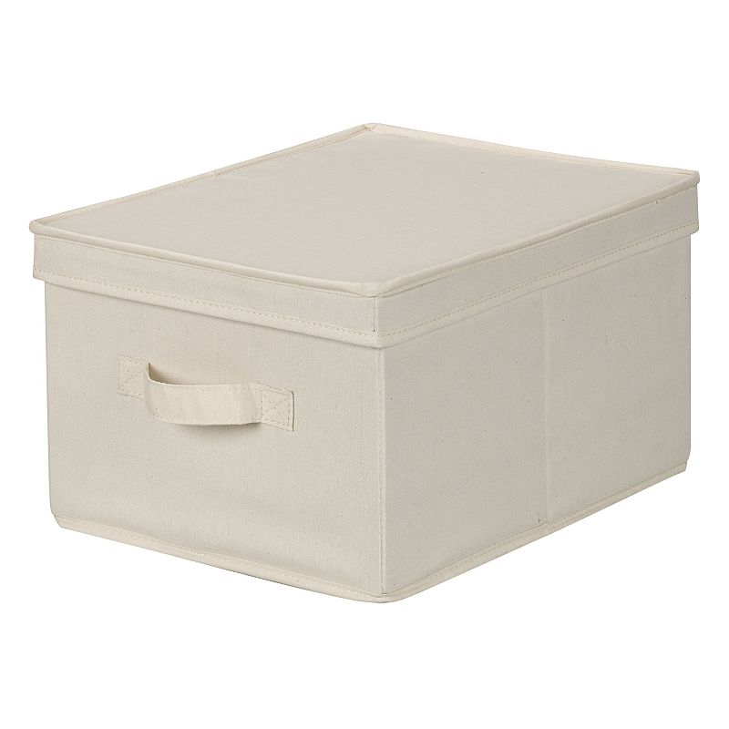 Household Essentials Canvas Storage Box - Large