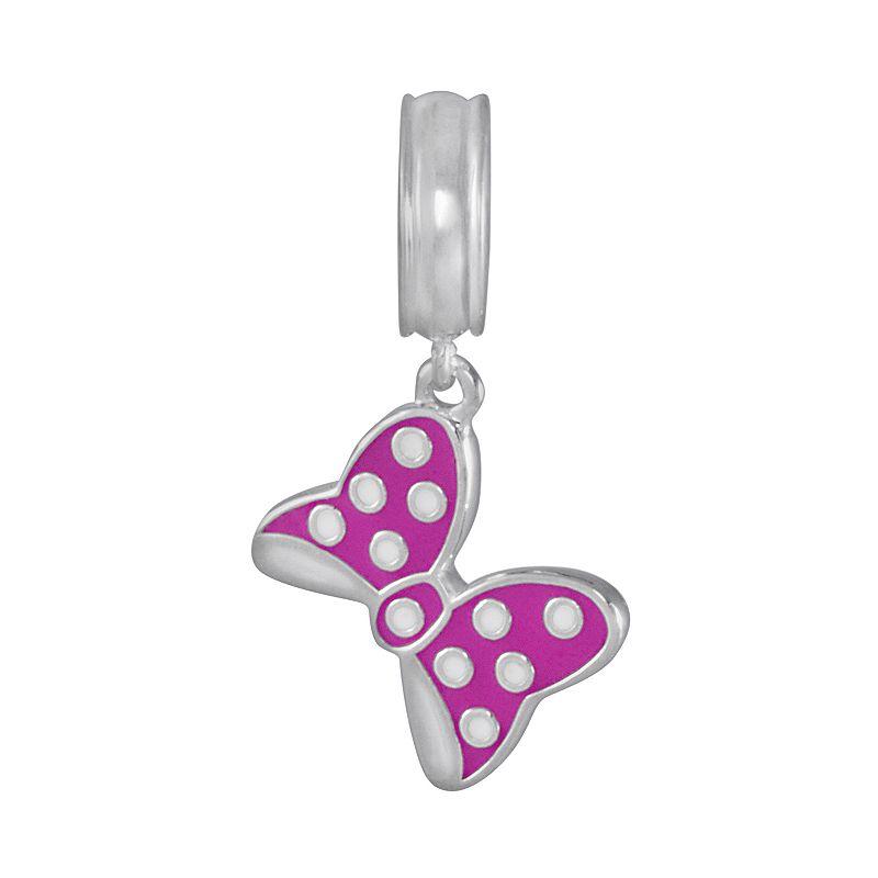Disney Sterling Silver Minnie Bow Charm