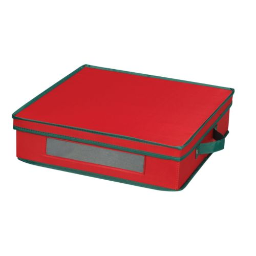 Household Essentials Holiday Charger Plate Lidded Storage Chest