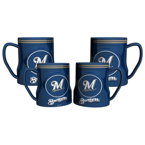 Milwaukee Brewers 4-pc. Game Time Mug Set