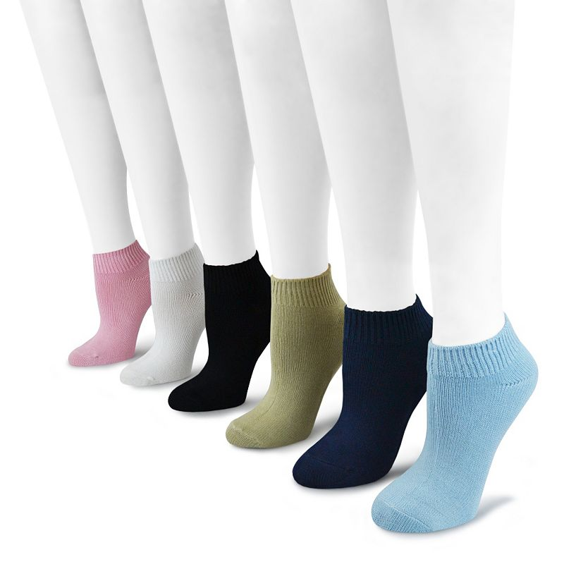 MUK LUKS 6-pk. Solid No-Show Socks