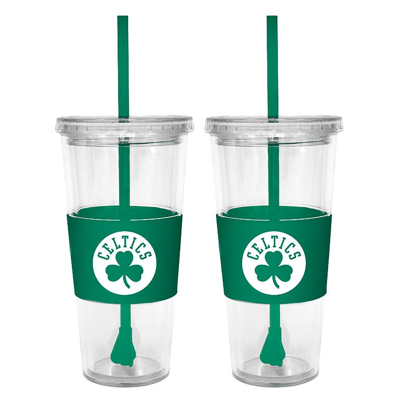 Boston Celtics 2-pc. Double-Walled Straw Tumbler Set