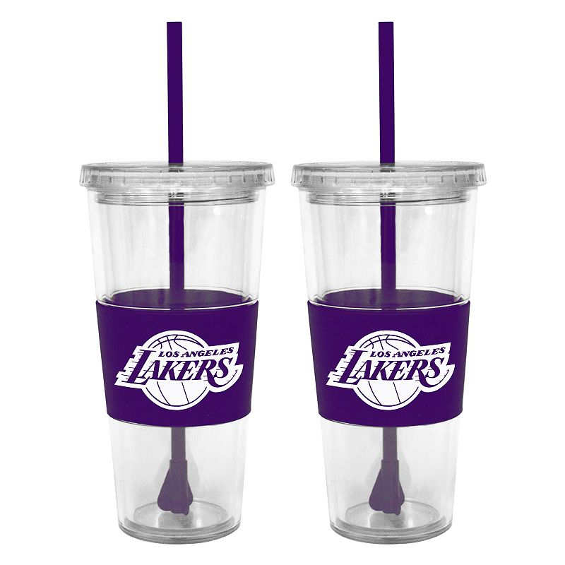 Los Angeles Lakers 2-pc. Double-Walled Straw Tumbler Set