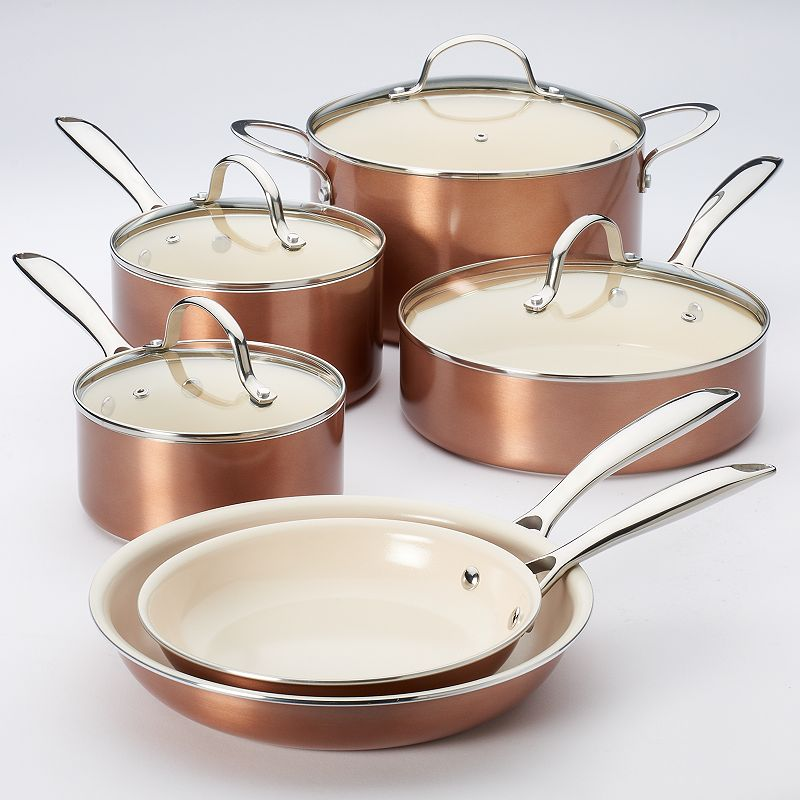 Food Network Copper Ceramic Cookware