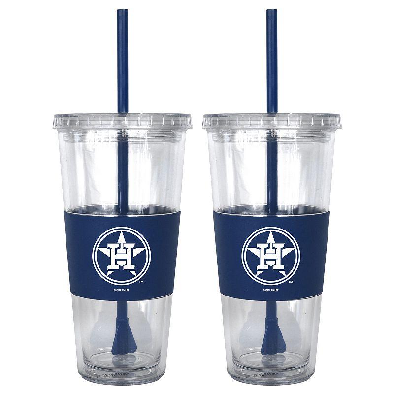Houston Astros 2-pc. Double-Walled Straw Tumbler Set