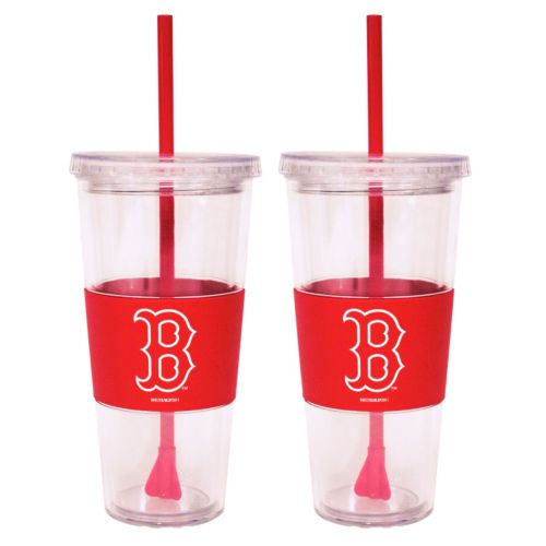 Boston Red Sox 2-pc. Double-Walled Straw Tumbler Set