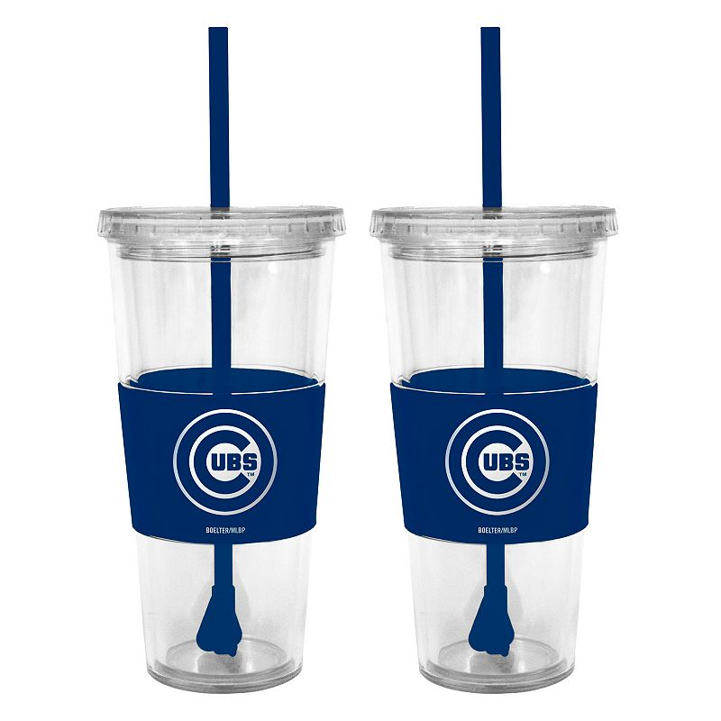 Chicago Cubs 2-pc. Double-Walled Straw Tumbler Set
