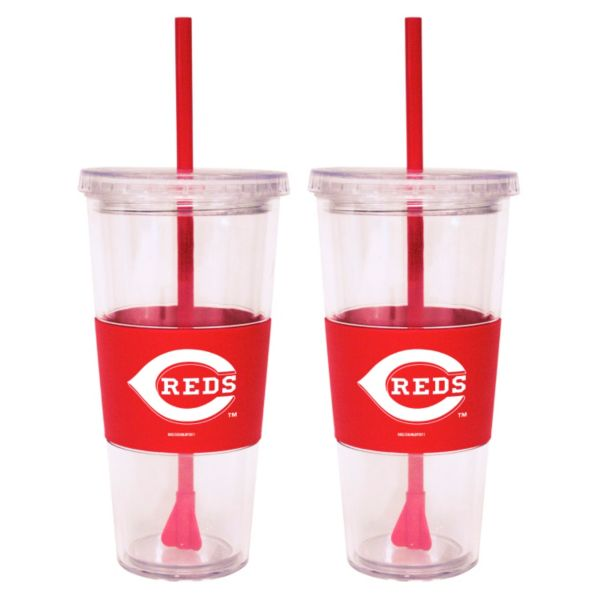 Cincinnati Reds 2-pc. Double-Walled Straw Tumbler Set