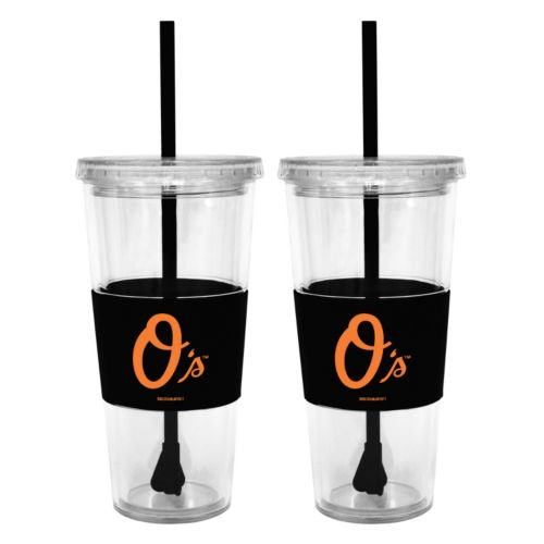 Baltimore Orioles 2-pc. Double-Walled Straw Tumbler Set