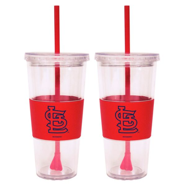St. Louis Cardinals 2-pc. Double-Walled Straw Tumbler Set