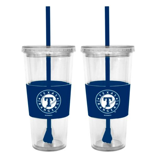 Texas Rangers 2-pc. Double-Walled Straw Tumbler Set